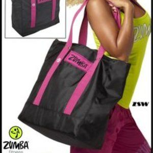 Zumba Jumbo Tote Bag Wristbands DVD Workout Set